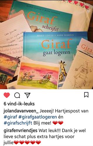 ansichtkaarten en nieuwe boek van giraf