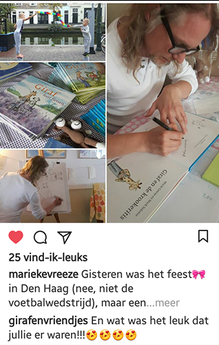 collage boekenfeest en signeren
