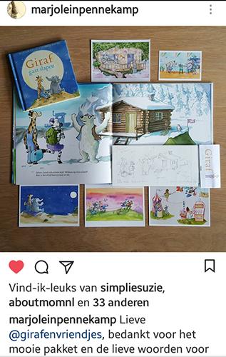 giraffen pakket, pakket van boeken