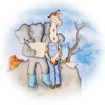 Olifant leest Giraf voor