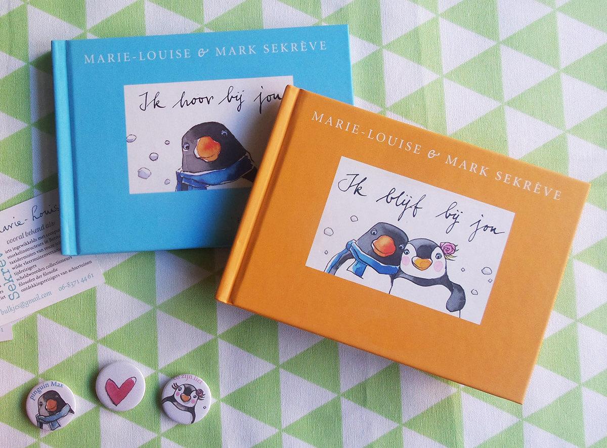 boekjes pinguin max en buttons valentijnsdag cadeau actie