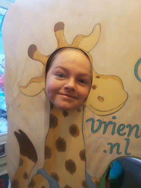 foto bord, fotobord giraf en vriendjes, kinderboekenmarkt