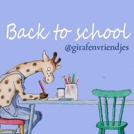 back to school aktie bij Giraf en vriendjes