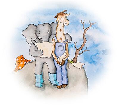 olifant-omhelst-giraf