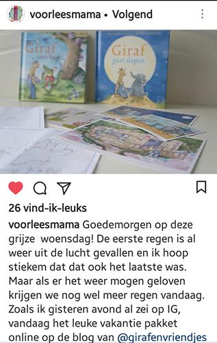 voorleesmama prentenboeken giraf op instagram