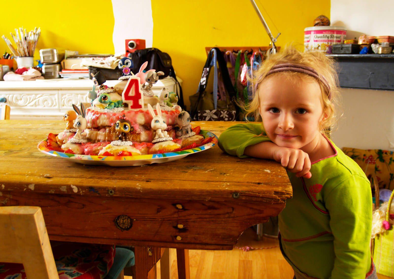 feest taart,  little petshop taart, verjaardagstaart