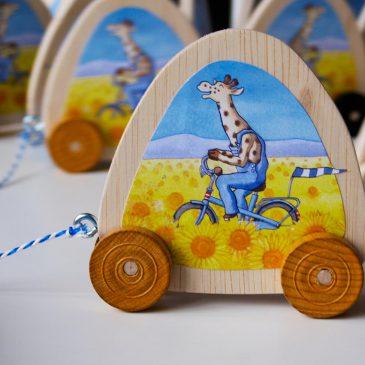 vraag van de week over giraf leert fietsen