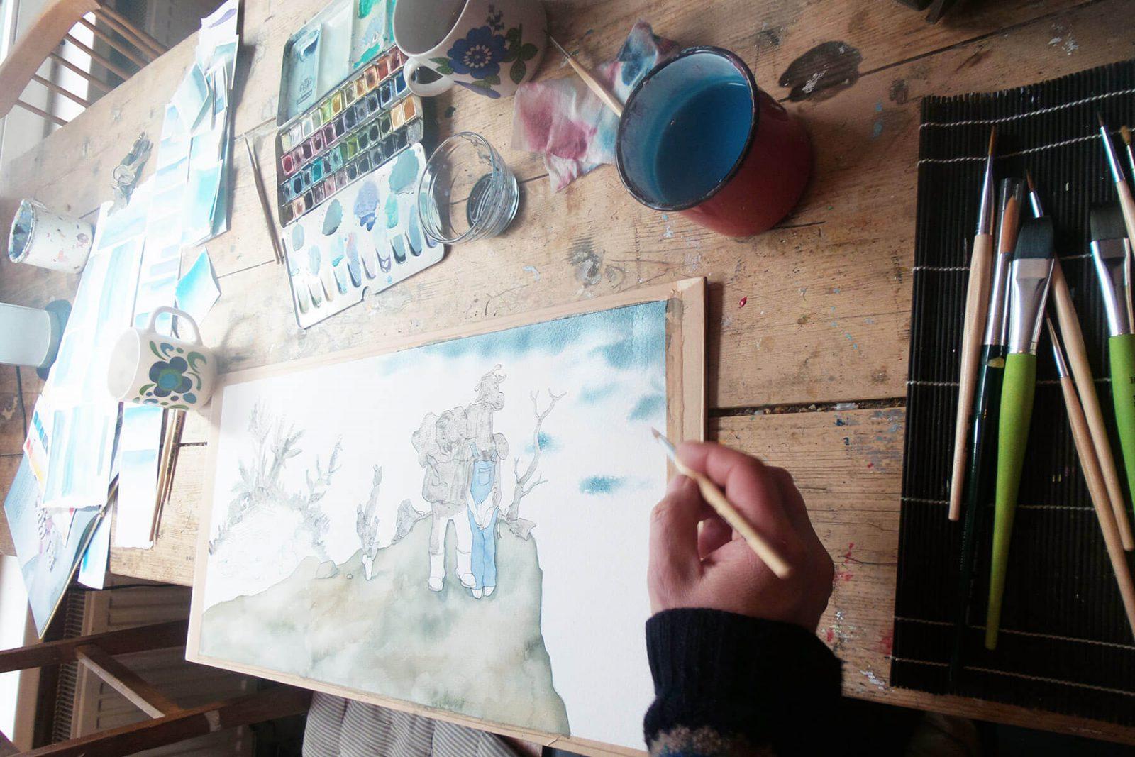 maken prentenboek met aquarel