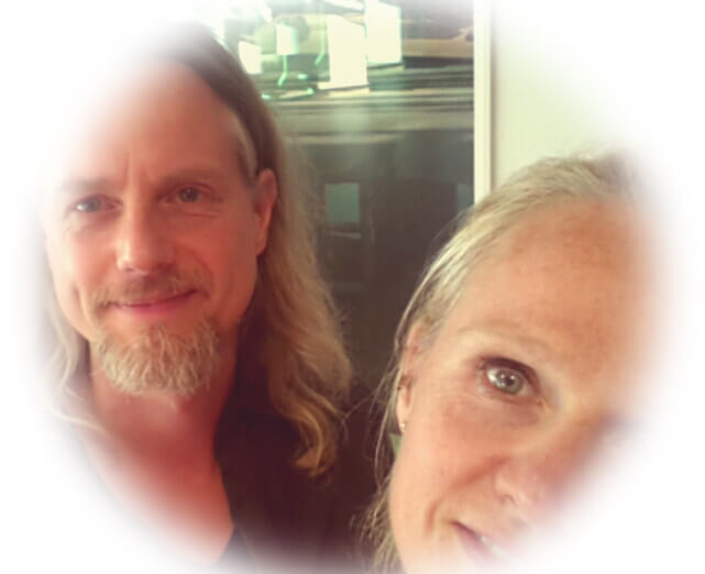 dubbel portret Marie-Louise en Mark Sekreve kunstenaars en kinderboekenschrijvers
