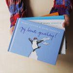 klein blauw feelgood boekje pinguins